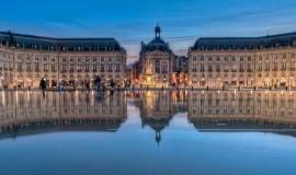 Place de la bourse at Bordeaux, France
