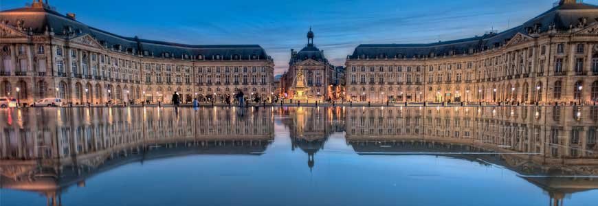 Place de la bourse at Bordeaux, France
