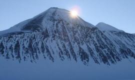 Antarctic ice sunset
