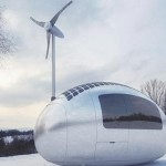 Ecocapsule in the snow